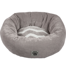 SnooZZy Rustic Zigzag Donut Bed Gry/Wh Zigzag Gry Cord 17 in