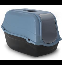 Bergamo Litter Pan Romeo Eco with Top and Filter Laguna Blue