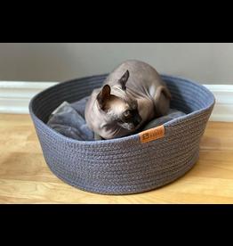 Be One Breed Cat Pet Cuddler Bed Dark Grey