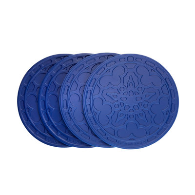 LE CREUSET Ktacc Set 4 Pc French Coasters Blueberry