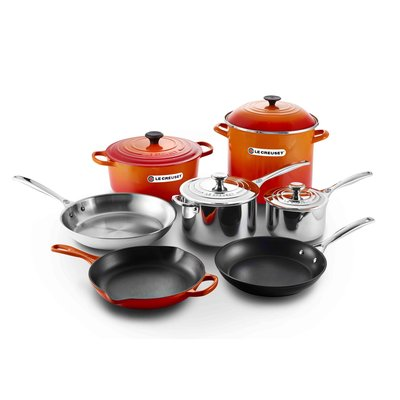 LE CREUSET Unique Ultimate Cookware Set Flame