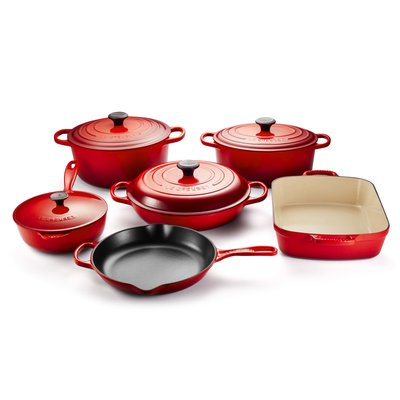 LE CREUSET Signature Set 10 Pc Ci - Cerise