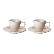 LE CREUSET Classic Set 2 Pc .07 L Espresso Cup/Saucer Meringue