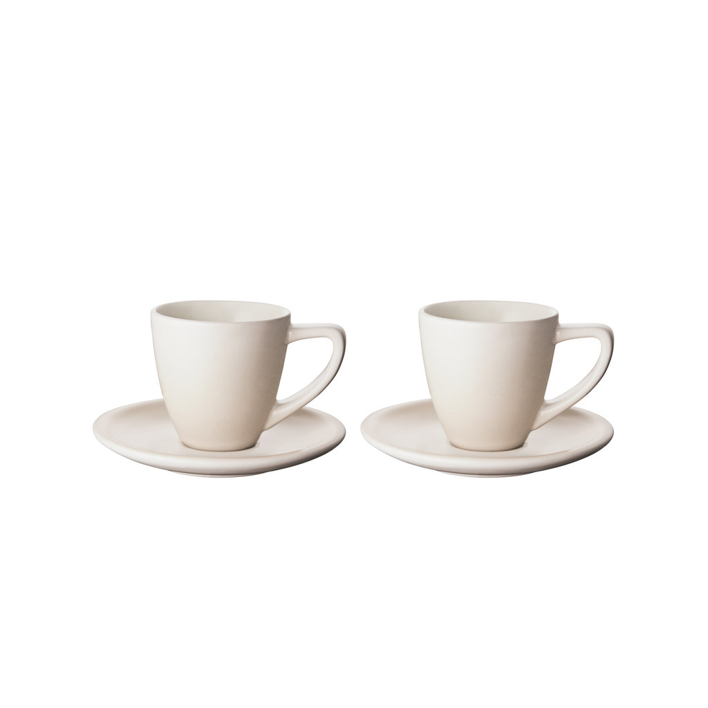 LE CREUSET Set 2 Pc .07 L Espresso Cup/Saucer Meringue