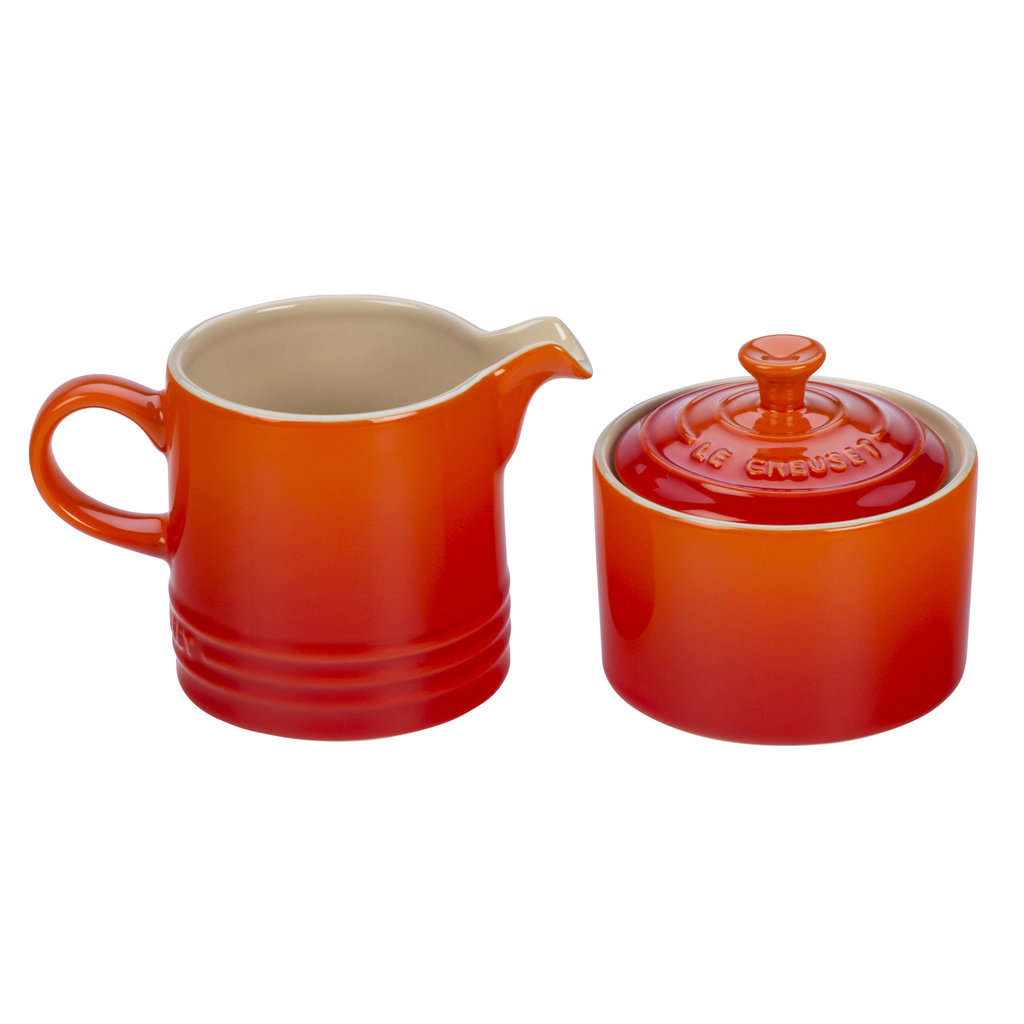 LE CREUSET Classic Set 2 Pc Cream & Sugar Flame