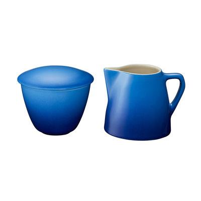 LE CREUSET Minimalist Ens 2 Pot A Creme Et Sucrier Bleuet