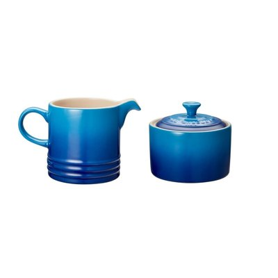 LE CREUSET Classic Ens 2 Pot A Creme Et Sucrier Bleuet