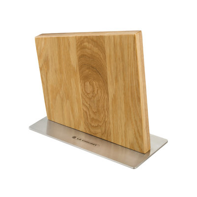 LE CREUSET Magnetic Knife Block Oak Wood And Stainless Steel