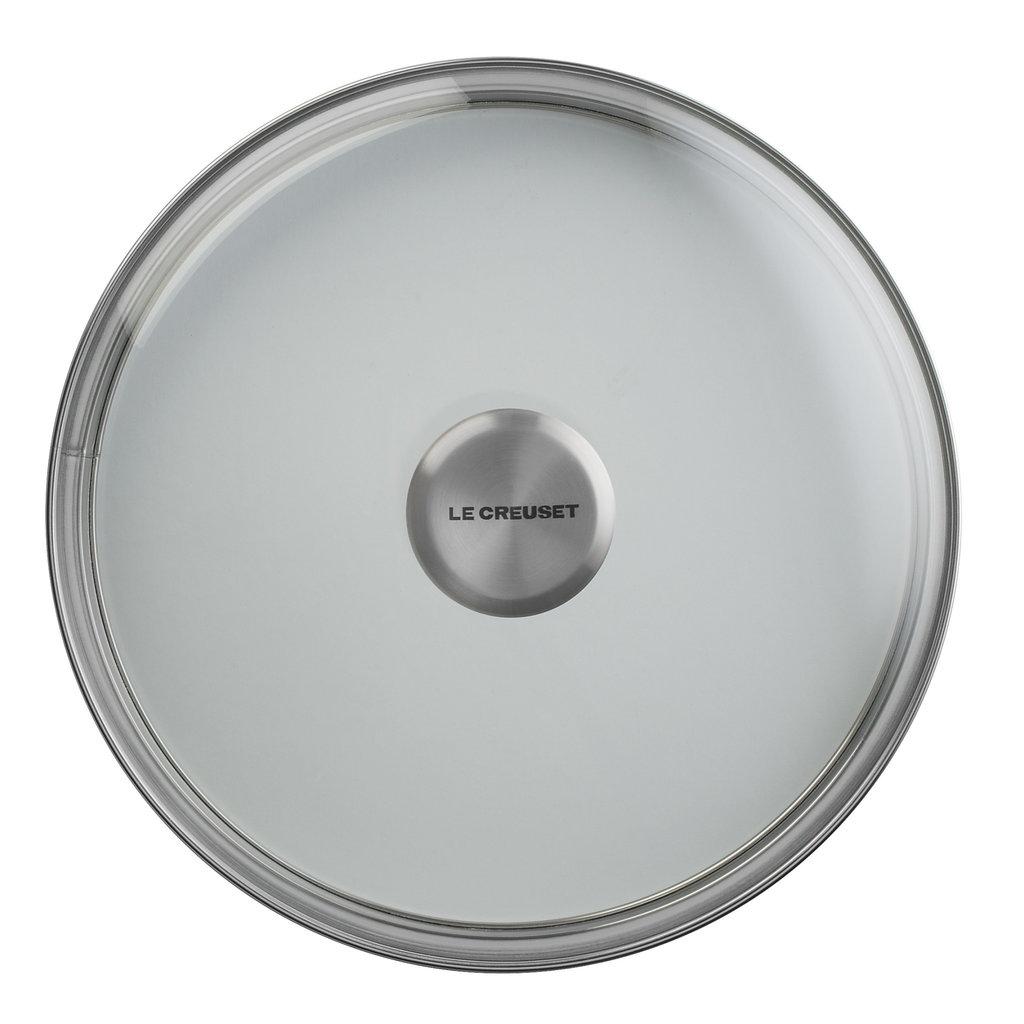 LE CREUSET 20 Cm Lid Glass W Ss Knob
