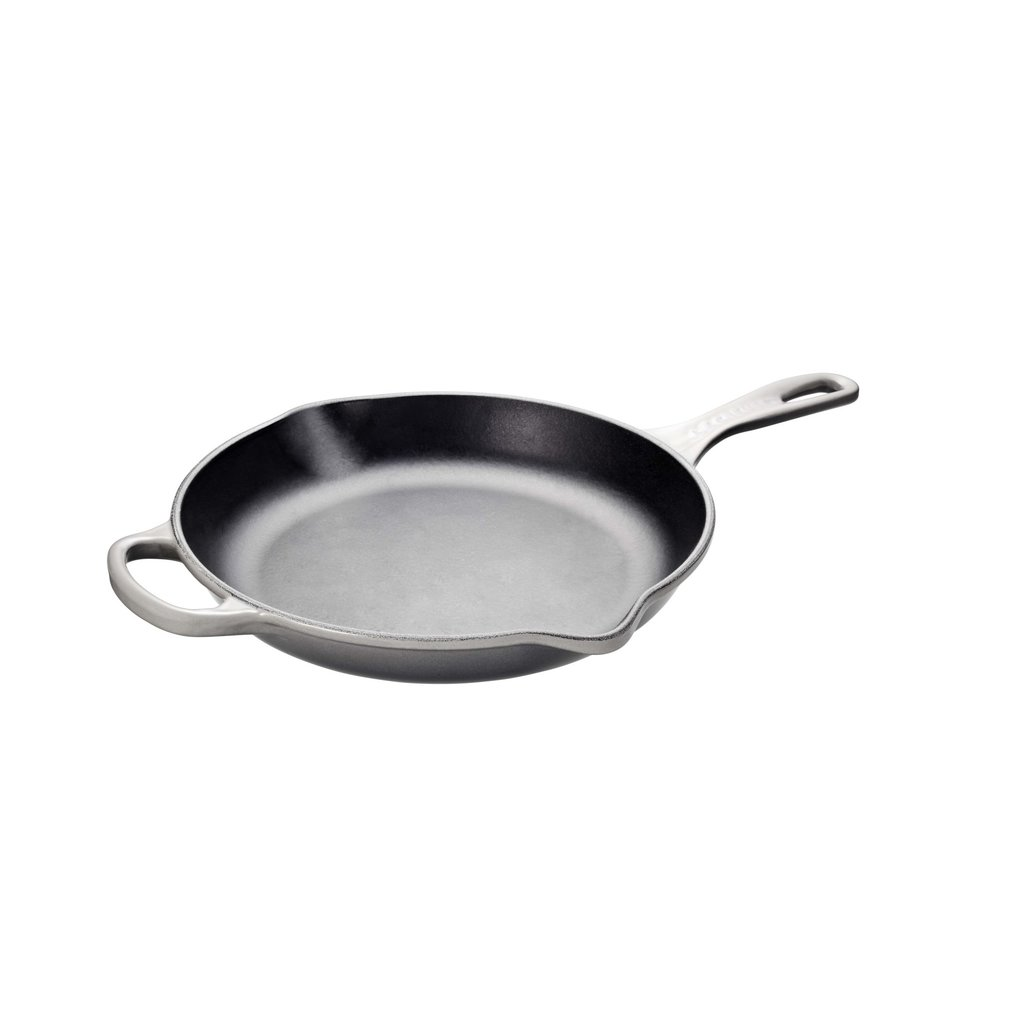 LE CREUSET Signature 26 Cm Iron Handle Skillet Oyster