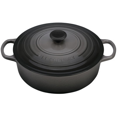 LE CREUSET Signature 6.2 L Shallow Round French Oven Oyster