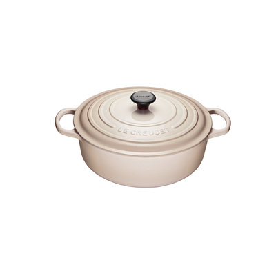 LE CREUSET Signature 6.2 L Shallow Round French Oven Meringue