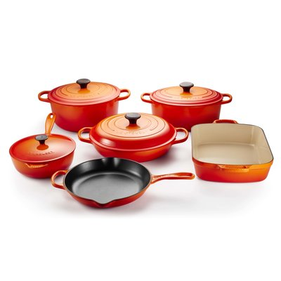 LE CREUSET Signature Set 10 Pc Ci - Flame