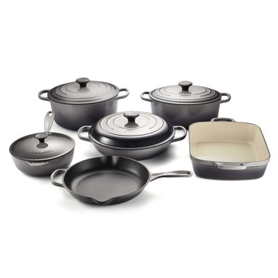 LE CREUSET Signature Set 10 Pc Ci - Oyster
