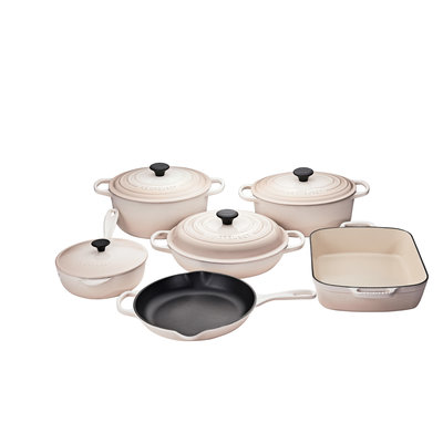 LE CREUSET Signature Set 10 Pc Ci - Meringue