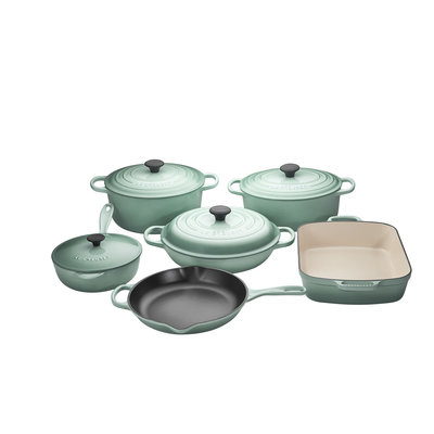 LE CREUSET Signature Set 10 Pc Ci - Sage