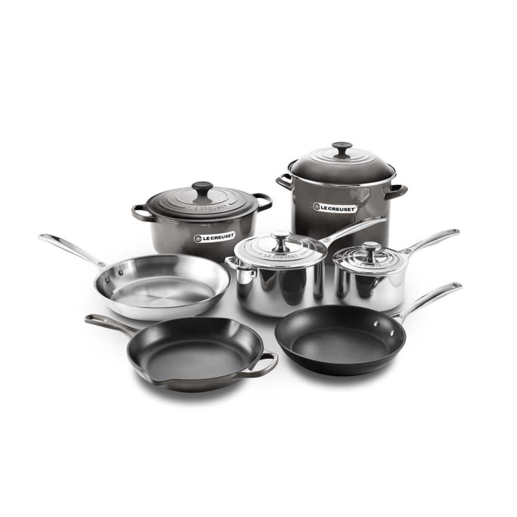 LE CREUSET Unique Ultimate Cookware Set Oyster