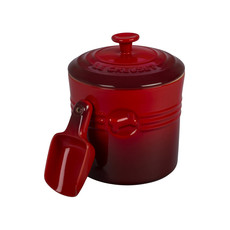 LE CREUSET Classic 1.9L Pet Food Container With Scoop Cherry