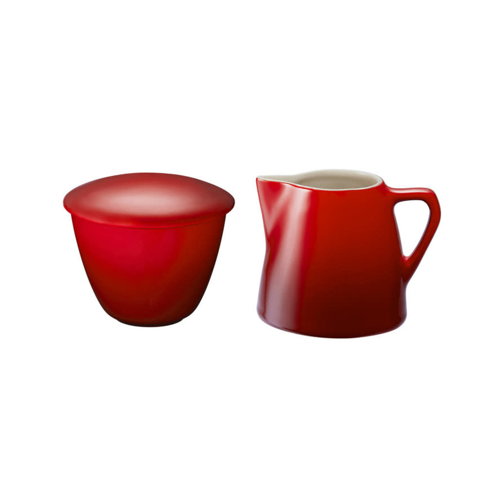 LE CREUSET Minimalist Set 2 Pc Cream & Sugar Cerise
