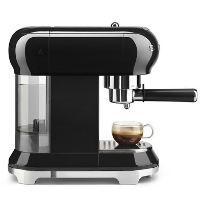 SMEG Espresso Coffee Machine 50'S Style Black