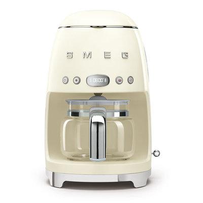 SMEG Machine À Café 10 Tasses Style Années 50 Cream