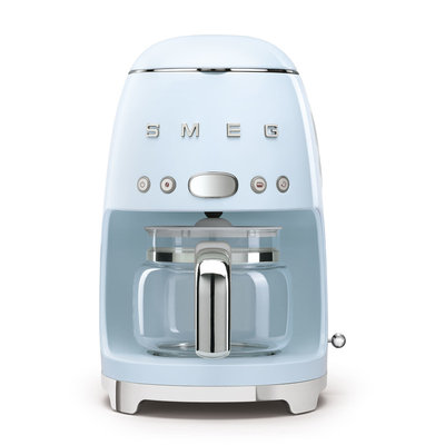 SMEG 10 Cup Drip Coffee Maker 50'S Style Pastel Blue