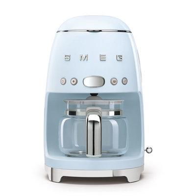 SMEG Machine À Café 10 Tasses Style Années 50 Pastel Blue