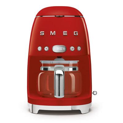 SMEG Machine À Café 10 Tasses Style Années 50 Rouge