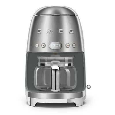 SMEG 10 Cup Drip Coffee Maker 50'S Style Chrome