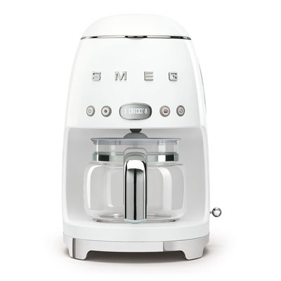 SMEG 10 Cup Drip Coffee Maker 50'S Style White
