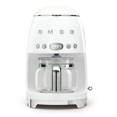 SMEG Machine À Café 10 Tasses Style Années 50 White