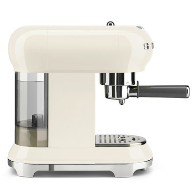 SMEG Espresso Coffee Machine 50'S Style Cream