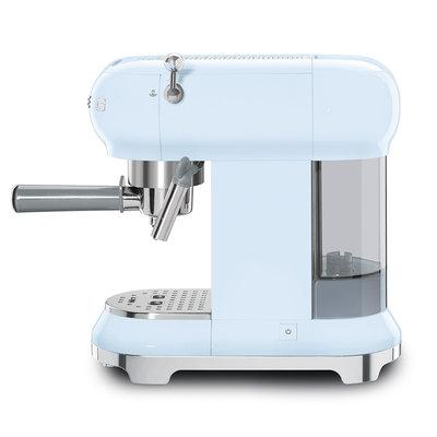 SMEG Espresso Coffee Machine 50'S Style Pastel Blue