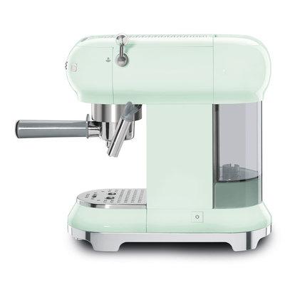 SMEG Espresso Coffee Machine 50'S Style Pastel Green
