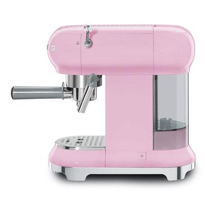 SMEG Espresso Coffee Machine 50'S Style Pink