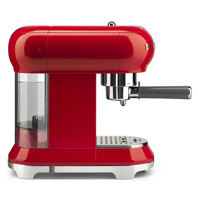 SMEG Espresso Coffee Machine 50'S Style Red