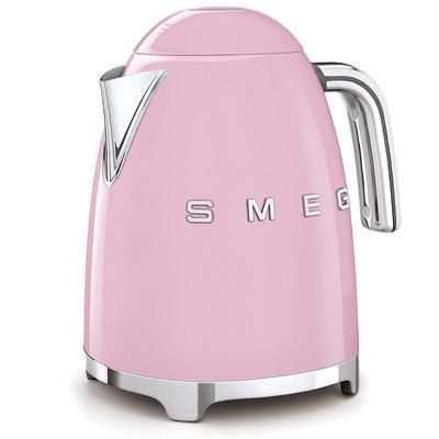 SMEG Kettle Fixed Temp 50'S Style Pink, 3D Logo