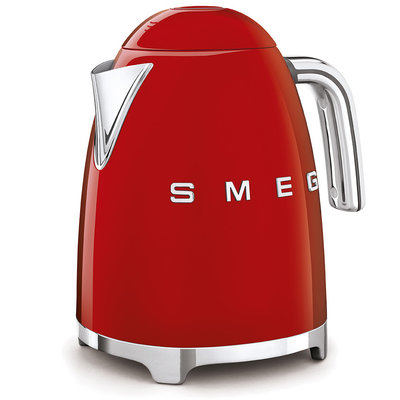 SMEG Kettle Fixed Temp 50'S Style Red, 3D Logo