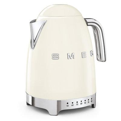 SMEG Kettle Variable Temp 50'S Style Cream, 3D Logo