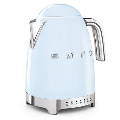SMEG Kettle Variable Temp 50'S Style Pastel Blue, 3D Logo
