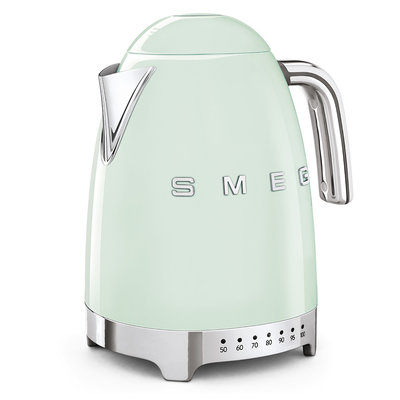 SMEG Kettle Variable Temp 50'S Style Pastel Green, 3D Logo