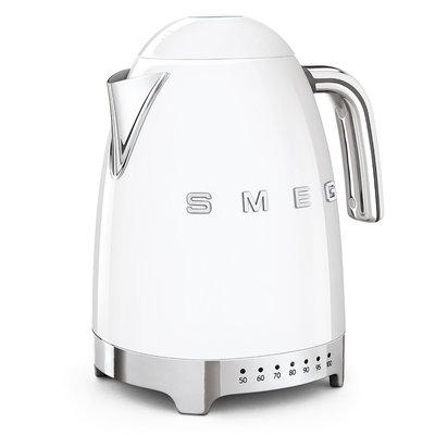 SMEG Kettle Variable Temp 50'S Style White, 3D Logo