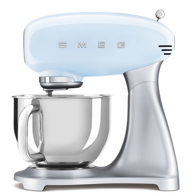 SMEG Stand Mixer 50'S Style, Ext Base, Pastel Blue