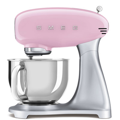 SMEG Stand Mixer 50'S Style, Ext Base, Pink