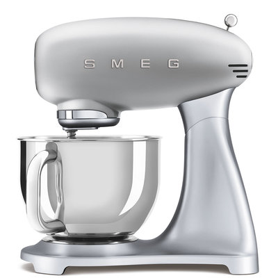 SMEG Stand Mixer 50'S Style, Ext Base, Silver