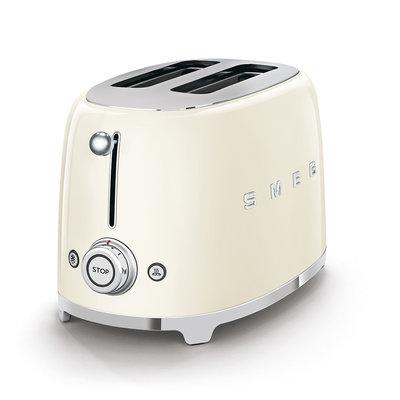 SMEG Toaster 2-Slice 50'S Style Cream