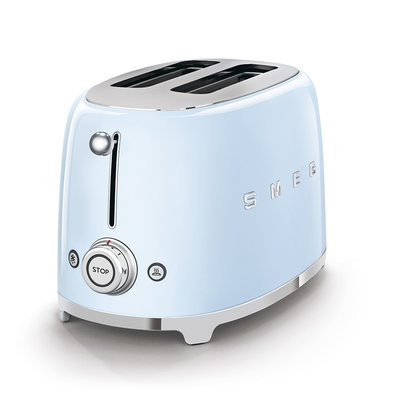 SMEG Toaster 2-Slice 50'S Style Pastel Blue