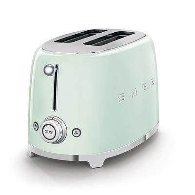 SMEG Toaster 2-Slice 50'S Style Pastel Green