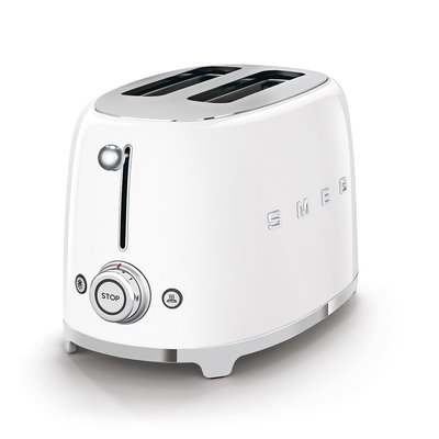 SMEG Toaster 2-Slice 50'S Style White