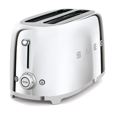 SMEG Toaster 4-Slice Long Slot 50'S Style Chrome